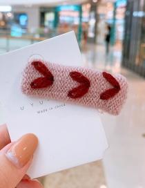 Fashion Pink Wool Woven Hair Clip