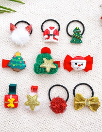 Fashion Compact 10 Piece Gift Box Christmas Gift Hair Clip