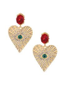 Pendientes De Corazón De Diamantes De Aleación