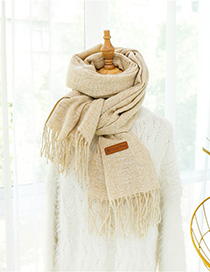 Fashion Beige Wool Thickening Snowflake Scarf