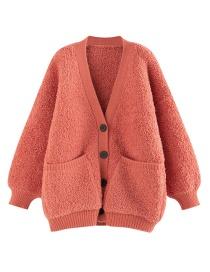 Fashion Red Fleece Jacket