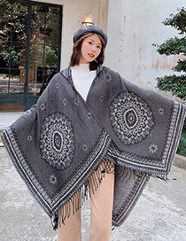 Fashion Gray Dual-use Scarf Shawl