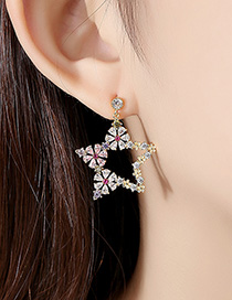 Fashion 18k Pentagonal Petal Earrings