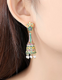 Fashion 18k Bell Pearl Earrings
