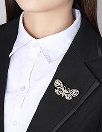 Broche De Mariposa De Circonio Con Incrustaciones De Cobre