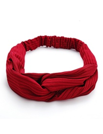 Fashion Wine Red Cross Hair Band