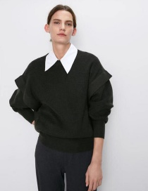Fashion Armygreen Wool Sweater
