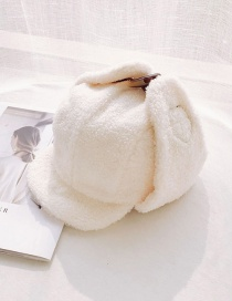 Fashion Lamb Cashmere Lei Feng Cap Milk White Lamb Cashmere