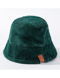Fashion Armygreen Leopard-printed Cashmere Hat