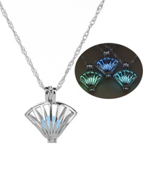 Fashion Silver Scallop Hollowed Out Bead Necklace