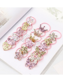 Fashion Color Love Crown Butterfly High Elastic Headstring 18pcs Boxed