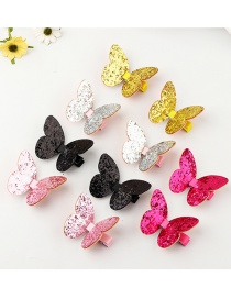 Fashion Color Bow Fabric Round Hair Clip 10pcs