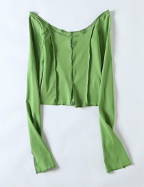 Fashion Green Long Sleeve T-shirt On Both Sides