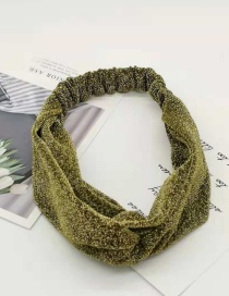 Fashion Champagne Sparkling Cross Hair Band Wide-brimmed Fabric Knotted Headband