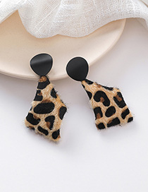 Fashion Leopard Geometric Leopard Plush Earrings