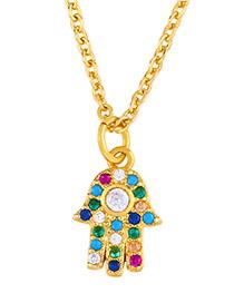 Fashion Palm Diamond Palm Necklace