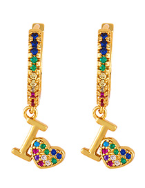 Fashion Iv Love Key Love Diamond Earrings