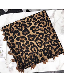 Fashion Leopard Printed Cotton And Linen Sunscreen Shawl