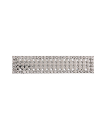 Fashion Silver Metal-studded Square Hair Clip