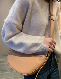 Fashion Light Brown Semi-circular Shoulder Messenger Bag