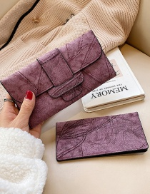 Fashion Red Wine Wallet 3 Fold Long Change Clip 2 Piece Set