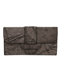 Fashion Coffee Color Wallet 3 Fold Long Change Clip 2 Piece Set