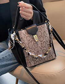Fashion Lotus Root Starch Snake Chain Crossbody Shoulder Bag
