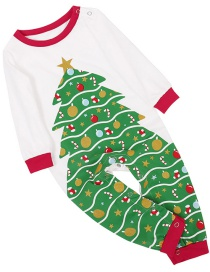 Fashion Crawling Suit Christmas Tree Print Home Service Suit