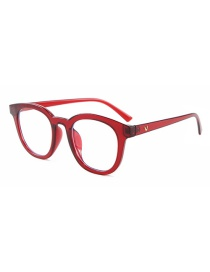 Fashion Red Box White Screen V Brand Small Frame Anti-blue Goggles