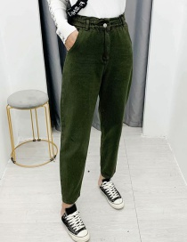 Fashion Green Elasticated Jeans