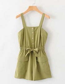 Fashion Green Breasted Jumpsuit