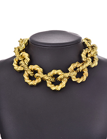 Gold Resin Chain Necklace