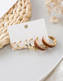 Fashion Gold Round Geometric Earrings Set Of 6