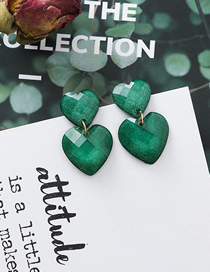 Fashion Green Acrylic Earrings