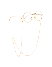 Gold Transparent Crystal Chain Glasses Chain