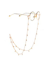 Gold Fringed Pearl Chain Glasses Chain