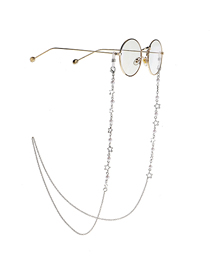 Silver Pearl Star Anti-skid Glasses Chain