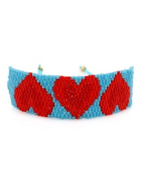 Blue Beizhu Weaving Love Bracelet