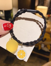 Yellow Lemon Fruit Hair Rope  Rubber Band