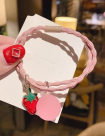 Pink Strawberry Fruit Hair Rope  Rubber Band
