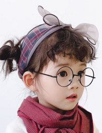 Bow Mesh Is About 42cm In Circumference Plaid Contrast Hair Band  Cloth