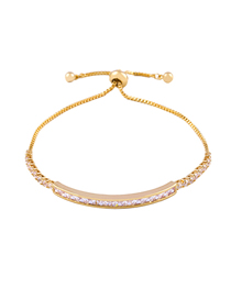 Fashion Color Rope Micro-set Zircon Red Rope Mom Adjustable Bracelet
