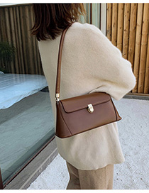 Fashion Brown Buckle Shoulder Bag