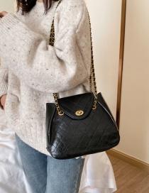 Fashion Black Grids Pattern Shoulder Bags