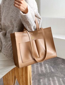 Fashion Khaki Stitching Patch Bag Shoulder Bag Shoulder Bag