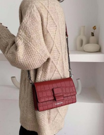 Fashion Red Stone Chain Single Shoulder Messenger Bag