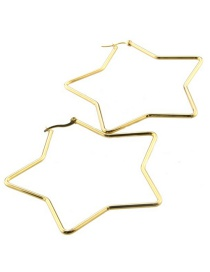 Fashion Gold Plating Stainless Steel Star Earrings