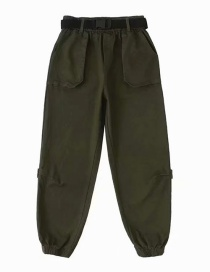 Fashion Army Green Gathered Overalls