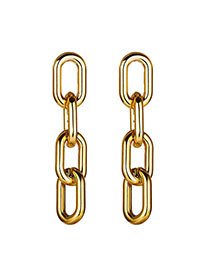 Fashion Golden Chain Earrings