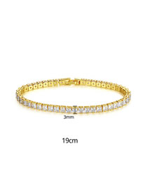 Fashion 19cm18k Gold Cubic Zirconia Bracelet